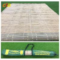 Wholesale Summer Outdoor Furnitures Bamboo Sleeping Mat Raffia Grass Tied With Carrying Bag from china suppliers
