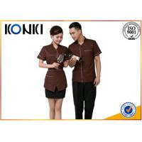 Wholesale Custom Color Restaurant Staff Uniforms For Waitresses Side Open from china suppliers