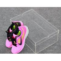 China top grade acrylic shoe storage box,plastic shoe box wholesale manufacturer on sale