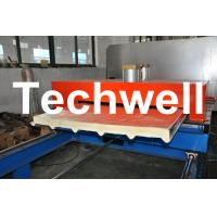 Wholesale PU Insulated Cold Roll Forming Machine For Making Sandwich Panels from china suppliers