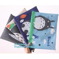 Wholesale Stationery A4 Paper Waterproof Office Zipper File Bag, Office Stationery Bright Colors OEM File Bag Pocket Clear PVC Bag from china suppliers