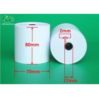 Wholesale Aseptic 80x70mm POS Terminal Paper Rolls , Receipt Paper Roll High Rubbing Resistance from china suppliers