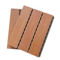 Wholesale Melamine Finish Grooved MDF Sound Proof Acoustic Wood Panels With Holes from china suppliers