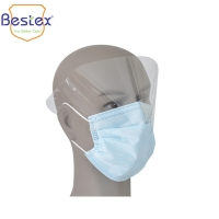 Wholesale Nonwoven Medical 99% BFE Disposable Face Mask With Eye Shield from china suppliers