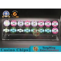 Wholesale 500g Casino Game Accessories Roulette Table 40mm Acrylic Poker Chips Plate Coins Display from china suppliers