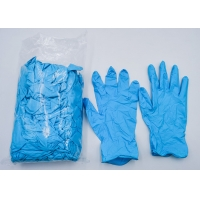 Wholesale Blue Disposable Nitrile Gloves Tear resistance / Effective antibacterial from china suppliers
