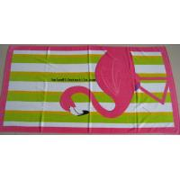 China China manufacturer 100% cotton printed beach towel , customer design on sale