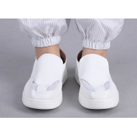 Wholesale 35-46 PU Leather Cleanroom ESD Shoe For Food Manufacturing from china suppliers