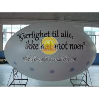 Wholesale White Oval ( ellipse shape ) Filled Helium Gas Balloons for Parade, Inflate Ground Balloon from china suppliers
