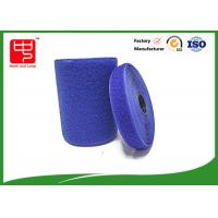 Wholesale Blue hook and loop tape customized adhesive backed hook and loop tape 100% nylon material from china suppliers