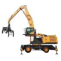 China 109kN Hydraulic Material Handler Scrap Steel Grabber Excavator With 35 Ton Operating Weight on sale