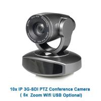 Hot selling professional audio interface 5x Zoom remote control ip sdi ptz video camera silver color