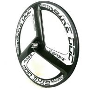 China ri Spoke Chinese Carbon Wheels Track 700C Fixed Gear Clincher 23MM Width Aero 3 Spoke Bike Front Wheel Bicycle Wheels on sale