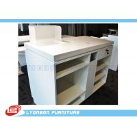 Wholesale White OEM MDF Wooden Shop Cash Counter Paint Finished , Retail Desk Counter from china suppliers