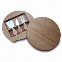 Wholesale Cheese Knife Sets with Wooden Case, Made of Stainless Steel from china suppliers