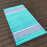 Wholesale Sunscreen Extra Large Thick Beach Towels Blue White Stripe 35 X 68 from china suppliers