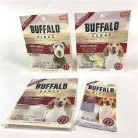 China Strong Sealing Smell Proof Pet Food Bag UV Logo Printed With Easy Opening Tear Notches on sale