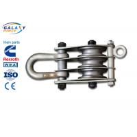 Wholesale Alternative Steel Wire Rope Pulley Block , Stringing Iron Rope Pulley Block from china suppliers