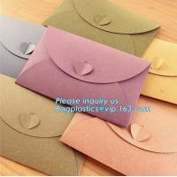 Wholesale Matt black card paper envelope in A4 A5 B5 C5 C6 A3 size with custom logo printing color foil rose gold stamping silver from china suppliers
