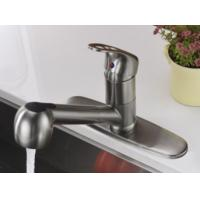 China Brushed Finishing Modern Sink Faucet 304 Ss Material With Pull Down Sprayer on sale