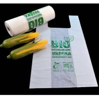 China Biodegradable & Compostable T-shirt bags in roll on sale