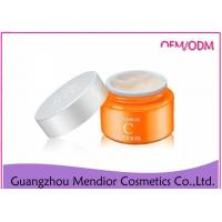 Wholesale Vitamin C Natural Face Cream No Chemicals Brightening Anti Spot Orange Color from china suppliers