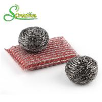 Wholesale Stainless Steel 410/430 Metal Scrub Pad , Kitchen Abrasive Stainless Steel Scouring Ball from china suppliers