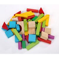 Colored Wood Blocks ~ Pcs wood building block set with carrying bag colored