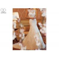 Buy cheap Romantic Mermaid Bridal Gowns , Ivory Mermaid Wedding Gown Long Fishtail from wholesalers