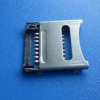 Wholesale micro pcb SD push sim card connector 8pin smt,mini sd card socket,smc card,TF Card connector from china suppliers