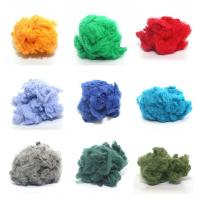 1.2d-90d dope dyed recycled polyester staple fiber made of 100% PET flakes
