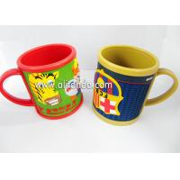Wholesale Food grade cute cartoon silicone soft pvc 3D embossed mug promotion kids plastic mug from china suppliers