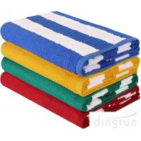 Wholesale High Absorbency Terry Cotton Stripe Bath Towels Beach Towels For Swimming from china suppliers