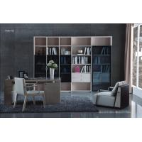 Wholesale Cheap Apartment room Fashion Home office Furniture Study Computer Reading table and Glass door bookcase with wood Shelve from china suppliers