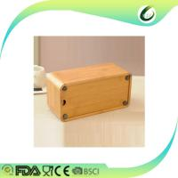 Wholesale Home decoration table desk bamboo tissue box from china suppliers