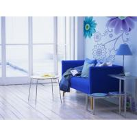 China 2012 New Blue Flower PVC, non-woven fabric, cotton fabric Wall papers, Decals JC-057 on sale