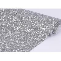 "54"" Width Silver Glitter Cotton Fabric For Making Shoes Material And Wall Covering"