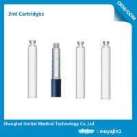 Wholesale Professional Insulin Pen Cartridge Glass Dental Cartridges With Rubber Stopper 3ml from china suppliers