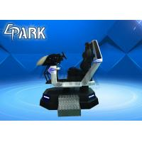 China White VR Racing Ride Car 9D Cinema Simulator Equipment Racing Car With 1 Seat on sale