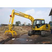 Wholesale Hydraulic Log Grapple For Excavator , 360 Degree Rotating Wood / Stone Grapple from china suppliers
