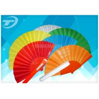 Wholesale Advertising or promotion hand held fan with plastic ribs and  fabric ,  can print logo or design on fabric from china suppliers