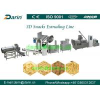 Wholesale Variety shapes 2D 3D pellet snack food Crispy pea soya extruder machine process line from china suppliers
