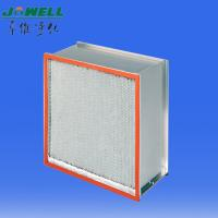 China 160Pa Initial Resistance GI Frame, High Heat Resistant Filter with Glass Fiber Paper on sale