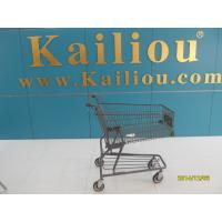 Wholesale Custom Metal Shopping Carts for groceries with front advertisement from china suppliers