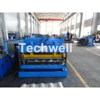 Quality Metal Glazed Wave Tile Roll Forming Machine With Welded Wall Plate Frame and for sale