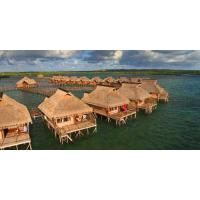 Wholesale Small Modular Prefabricated Hotel , Overwater Bungalow With Light Steel Frame from china suppliers
