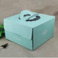 China CMKY Printing Paper Box Food Grade , Cardboard Cake Boxes With Handle on sale