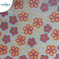 Wholesale Shinnning Synthetic Leather Fabric Floral 0.7±0.1mm Thickness Precision Cutting from china suppliers