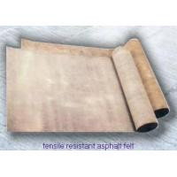 China Tensile resistant asphalt felt on sale