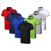 Wholesale Silk Cotton Custom Embroidered Polo Shirts Athletic Stretch Moisture Wicking from china suppliers